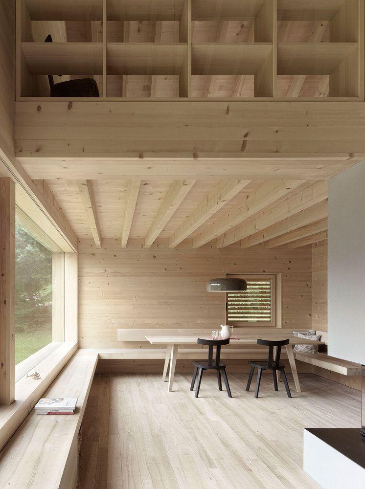 Gallery Of House In Tschengla Innauer Matt Architekten 8 Architecture House House Design Dining Corner