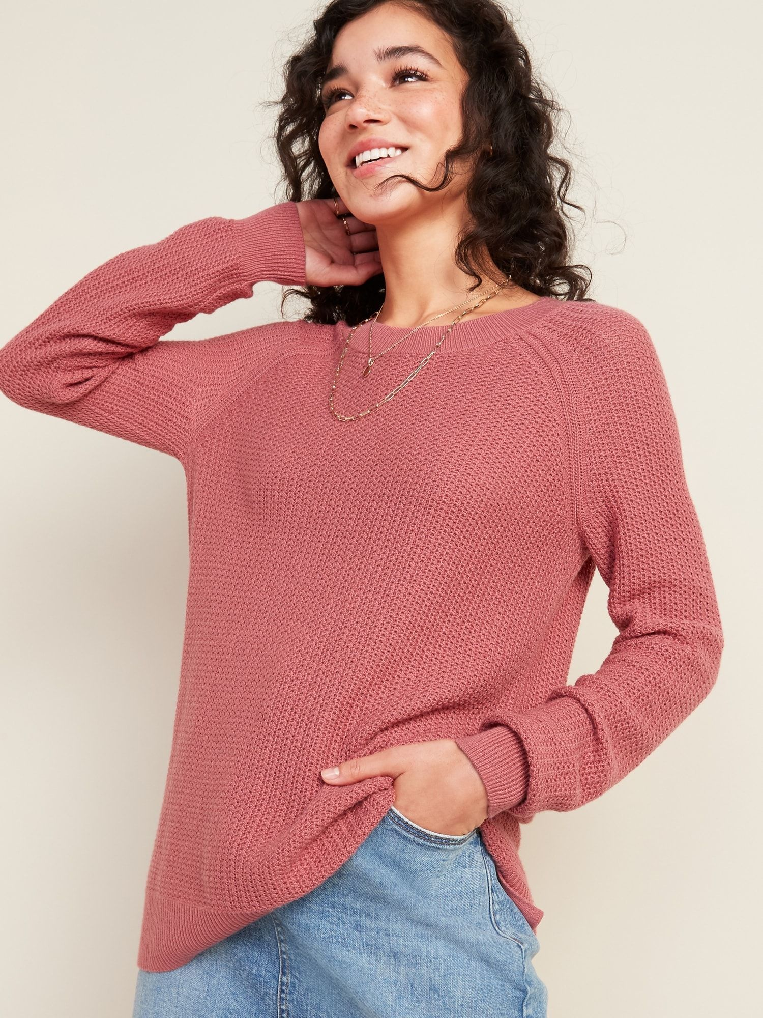 Textured Crew Neck Sweater For Women Old Navy Sweaters For Women Sweaters Textured Sweater [ 2000 x 1500 Pixel ]