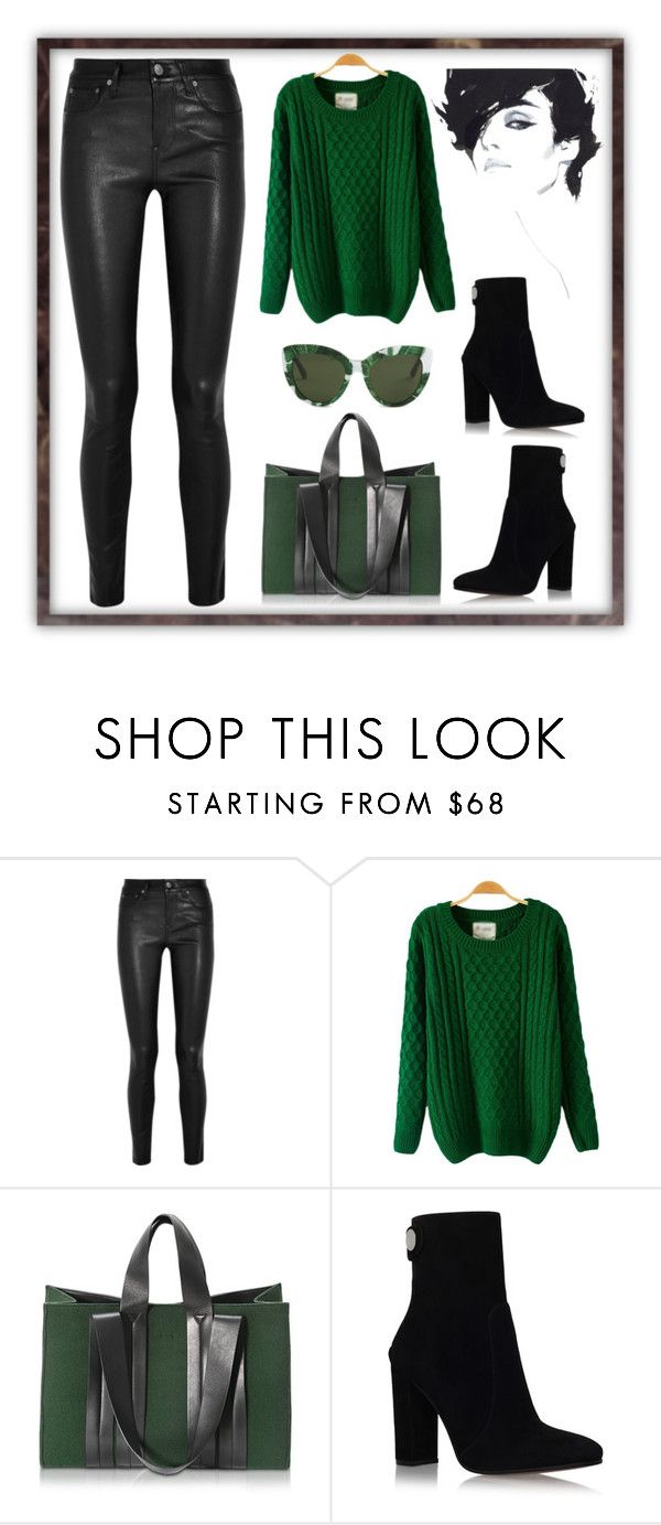 """""""little bit green"""" by rose-rose1 ❤ liked on Polyvore featuring Helmut Lang, Corto Moltedo, Gianvito Rossi, Dolce&Gabbana and CasualChic"""