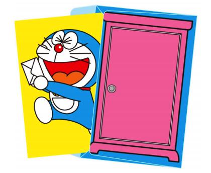 日本郵便 どこでもドアを封筒にした ドラえもんレターセット 販売