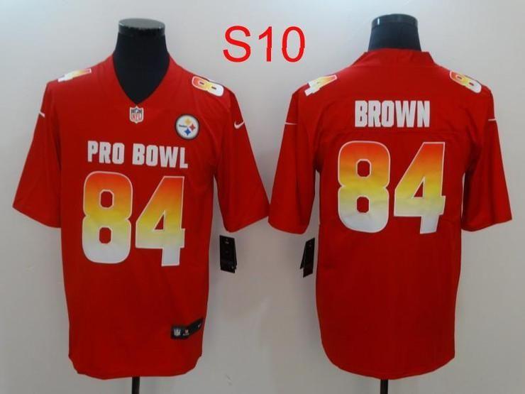 separation shoes 91c7c 00410 Men 84 Antonio Brown Jersey Football Pittsburgh Steelers ...