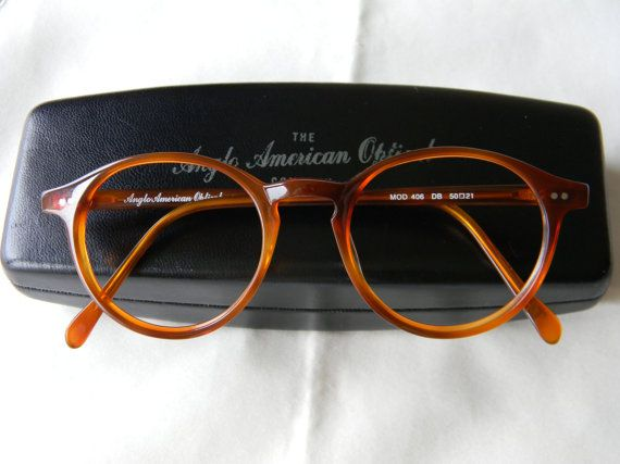 bb2771d560 Vintage Anglo American Optical Panto P3 Mod. 406 50-21 DB-Demi Blonde  Eyeglasses Frame.Made in England.1990 s.NOS.