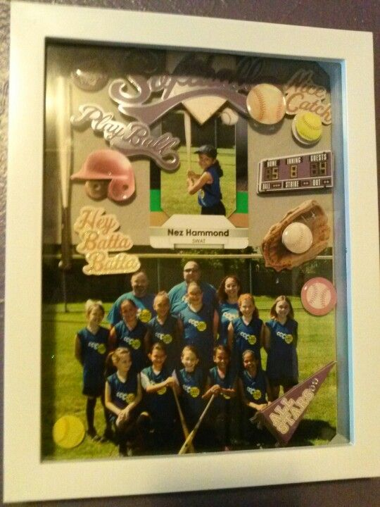 Ideas Senior Night Shadow Box Softball