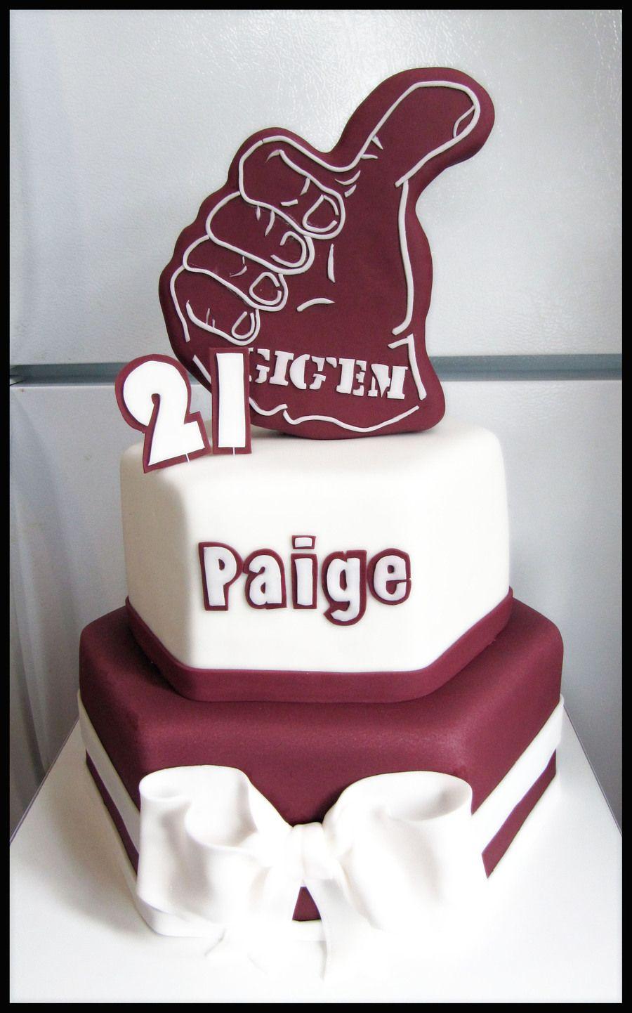 Aggie 21St Birthday 21st birthday cakes, 21st birthday