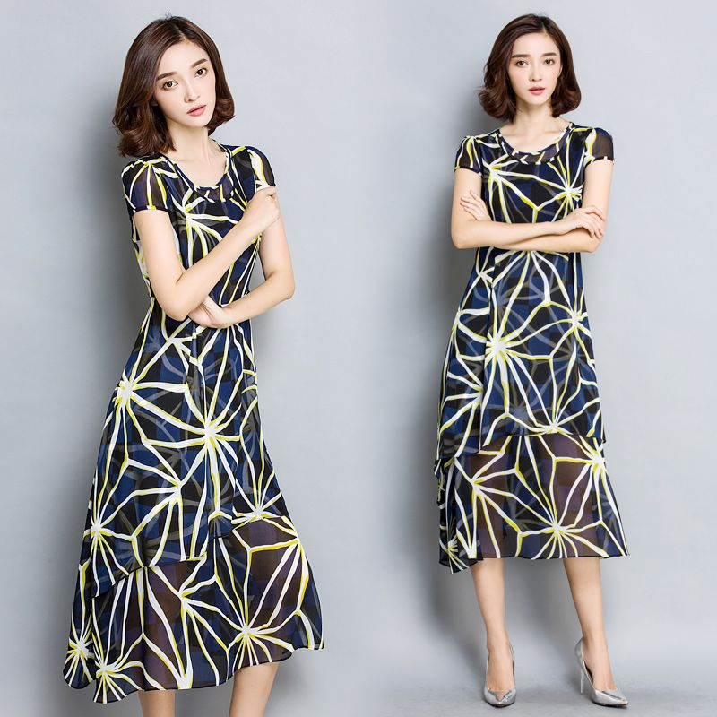 Find More Dresses Information about High quality New 2016 women summer  chiffon dress work office Elbise 28d859ac2cc