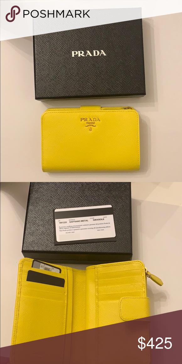 f52dd0fcc950 Prada Saffiano French purse Rare color! Authentic! Prada Bags Wallets