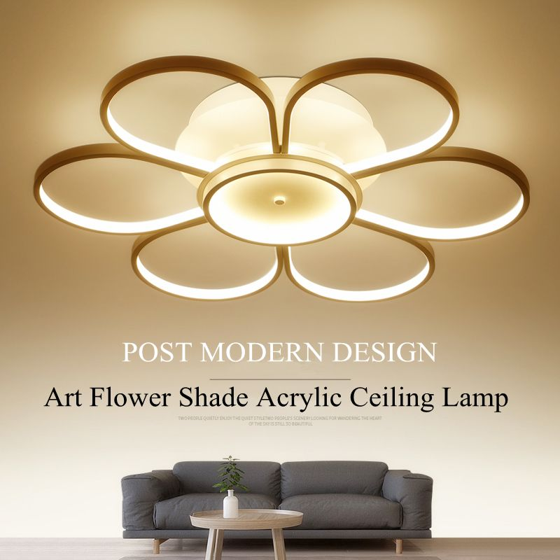 Simple New Design Heads Acrylic Rings Ceiling Lamp For Living Room Bedroom