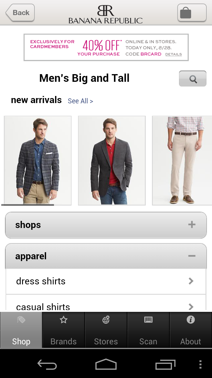 Banana Republic Is Such Another Example Of Hybrid App It Has Used