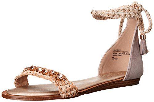 Nanette Nanette Lepore Women's Magnolia-N Flat Sandal, Natural, 8.5 M US >>> Click image for more details.