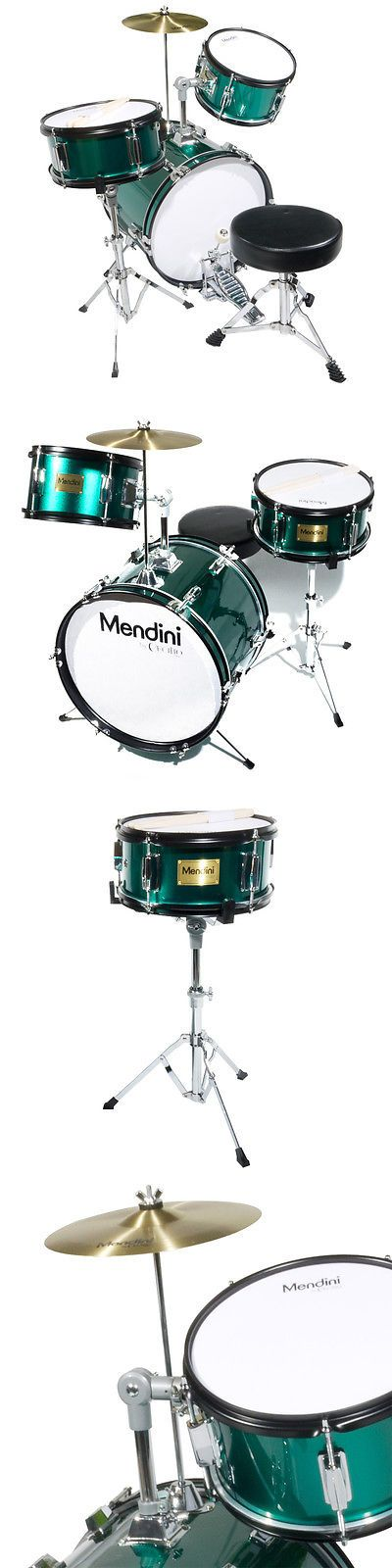 Music And Art 11735 Mendini 16 Junior Kids Child Jr Drum Set Kit