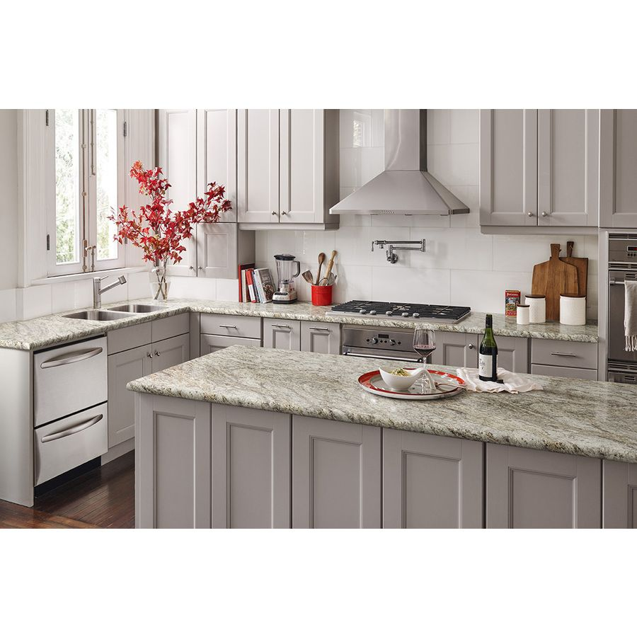 White Laminate Kitchen Countertops shop wilsonart granito amarelo mirage laminate kitchen countertop