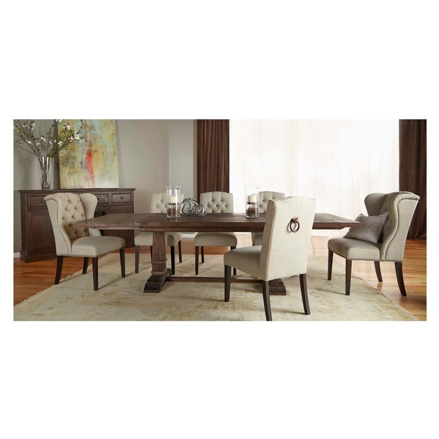 Eldorado Dining Room El Dorado Furniture  Hudson Rustic Java Extendable Dining Table