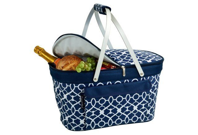 Collapsible Insulated Basket, Blue