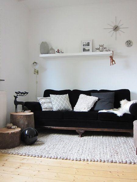 Atmosphäre im Wohnzimmer - mit Textilien und Accessoires Pinterest