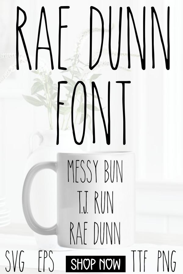 THE Rae Dunn Font! Top Selling Rae Dunn Font for Rae Dunn Christmas, Rae Dunn Display #cricutvinylprojects
