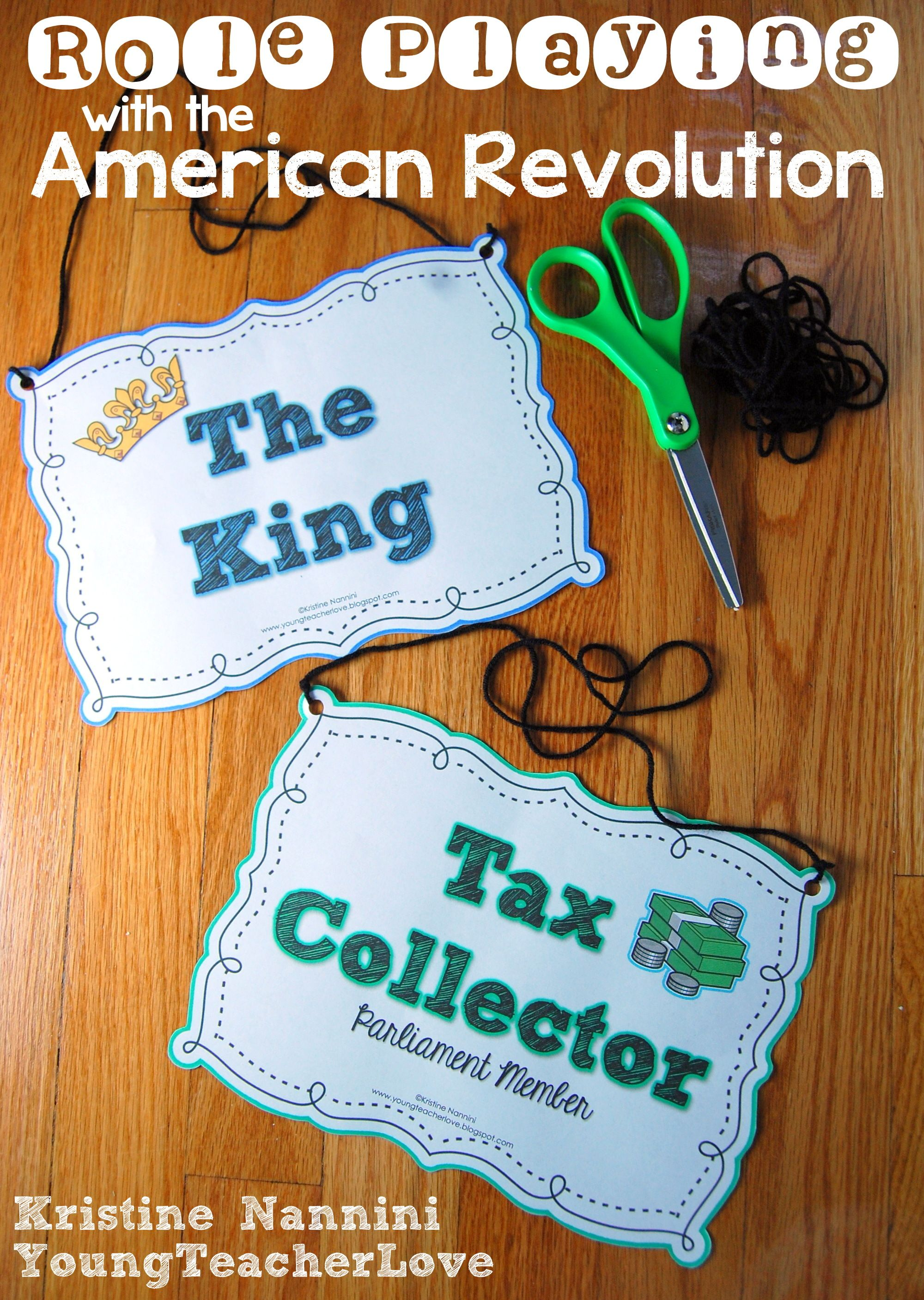 Role Playing With The American Revolution (freebies Included)! A Super Fun,  Handson Activity For Students To Understand Taxation Without  Representation!