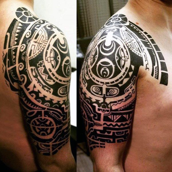 upper arm maori art tattoos for men ideas for polynesian tattoos pinterest maori art. Black Bedroom Furniture Sets. Home Design Ideas