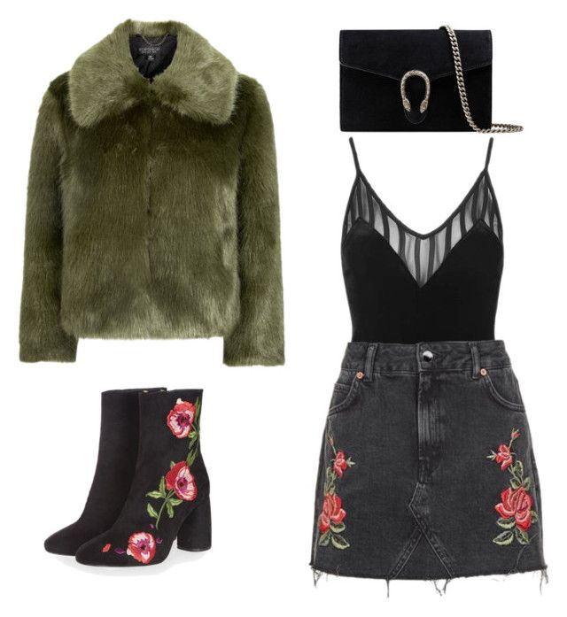 """""""Untitled #289"""" by new-style-to-try on Polyvore featuring Topshop and Gucci"""