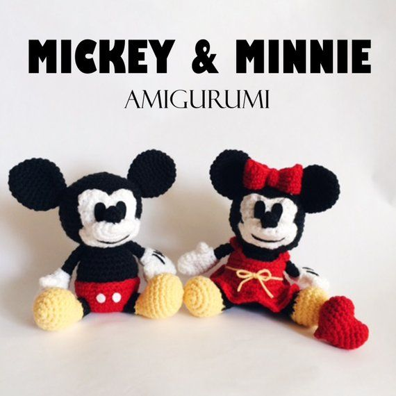 Mickey & Minnie Mouse Amigurumi Crochet Pattern PDF | Products in ...