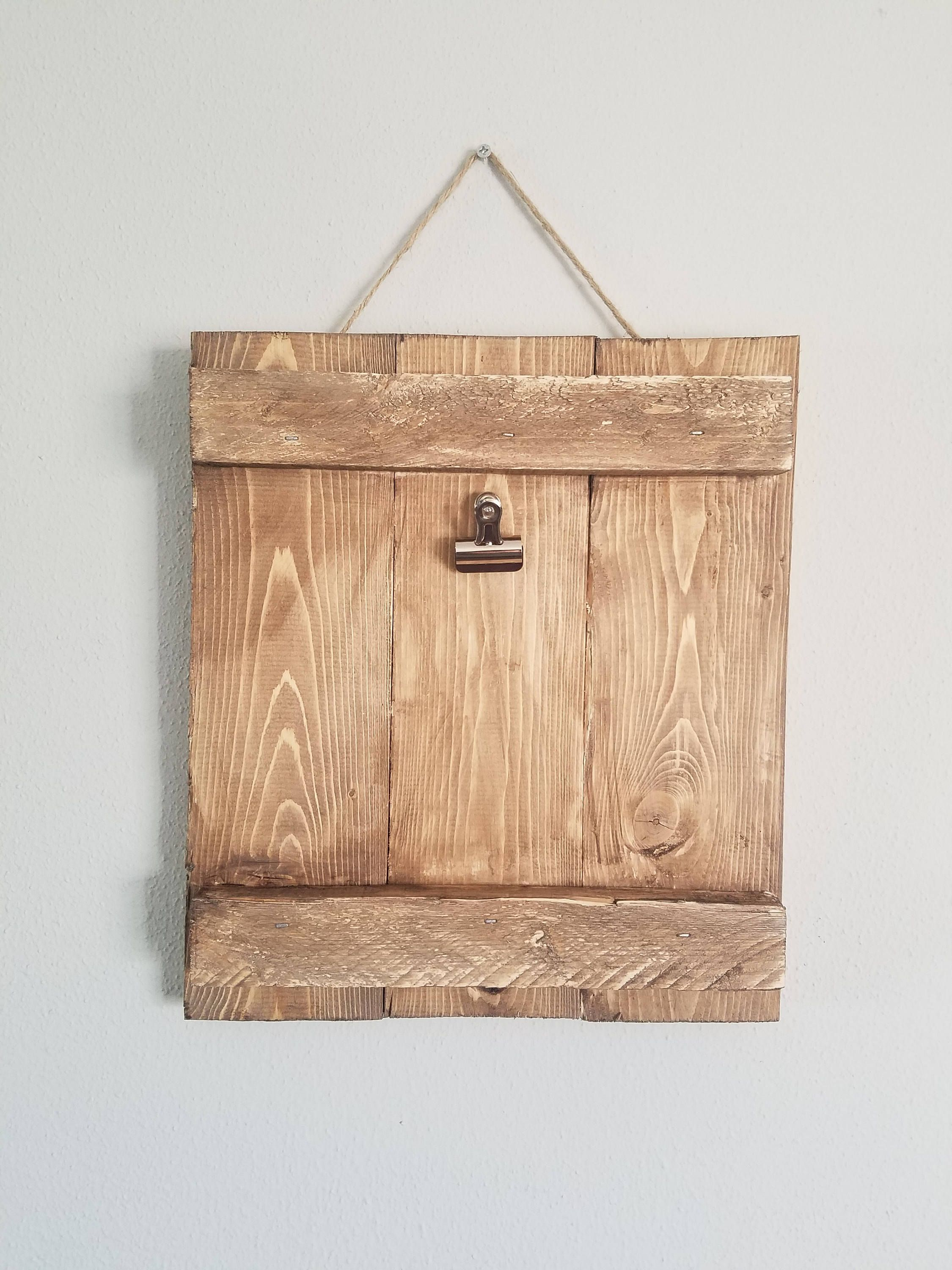 White Photo Picture Frame Solid Wood Handmade Wall Hanging Twine Vintage Rustic