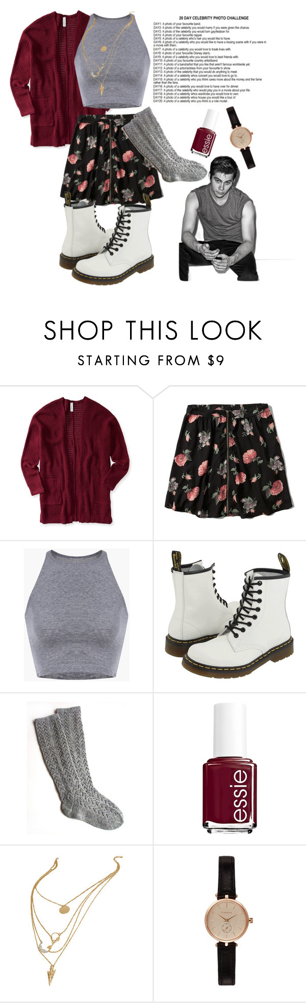 """Day 6"" by emmapierce42 ❤ liked on Polyvore featuring Aéropostale, Abercrombie & Fitch, Dr. Martens, Essie and Barbour"