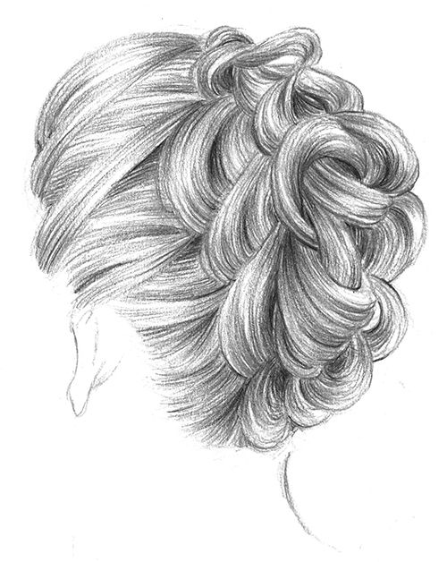 365c (3) by Maelle Rajoelisolo, via Behance Hair sketch