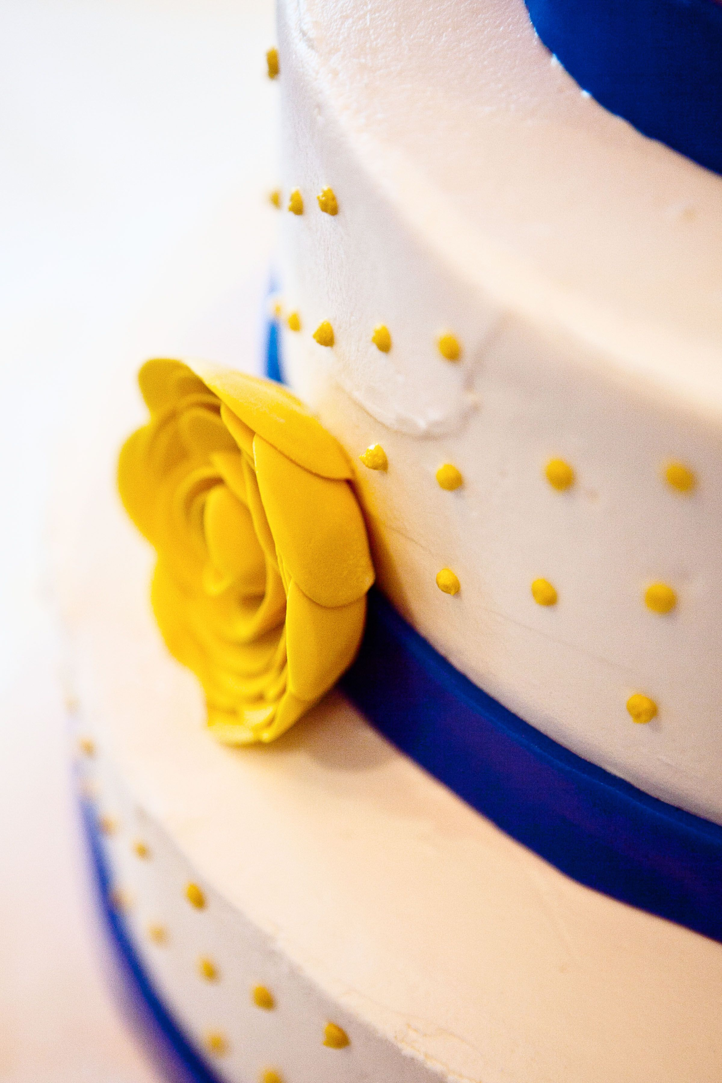 Sunflower Yellow Royal Blue And White Wedding