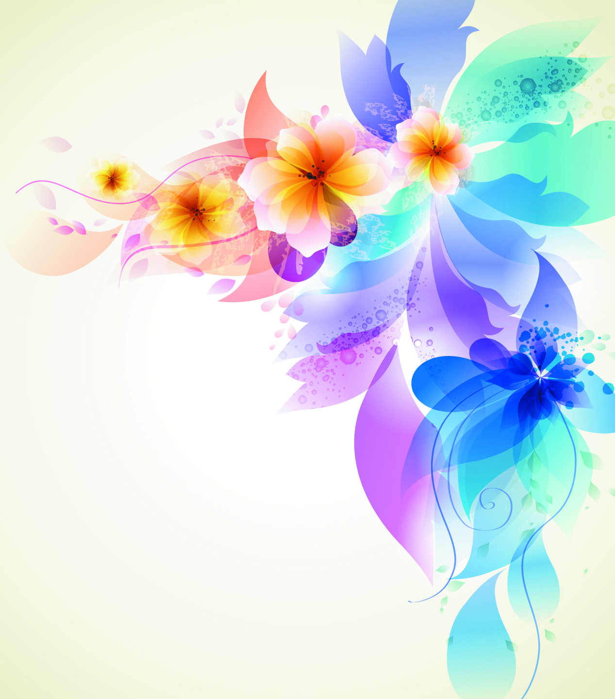 free vector Romantic flower background 03 vector graphic