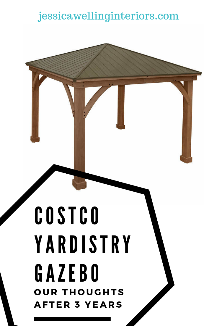 Costco Gazebo Review Our Experience After 4 Years Jessica Welling Interiors Costco Gazebo Gazebo Costco Pergola