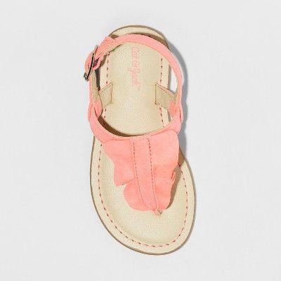 4791d161c79d Toddler Girls' Naomi Ruffle Thong Sandals - Cat & Jack Coral (Pink ...