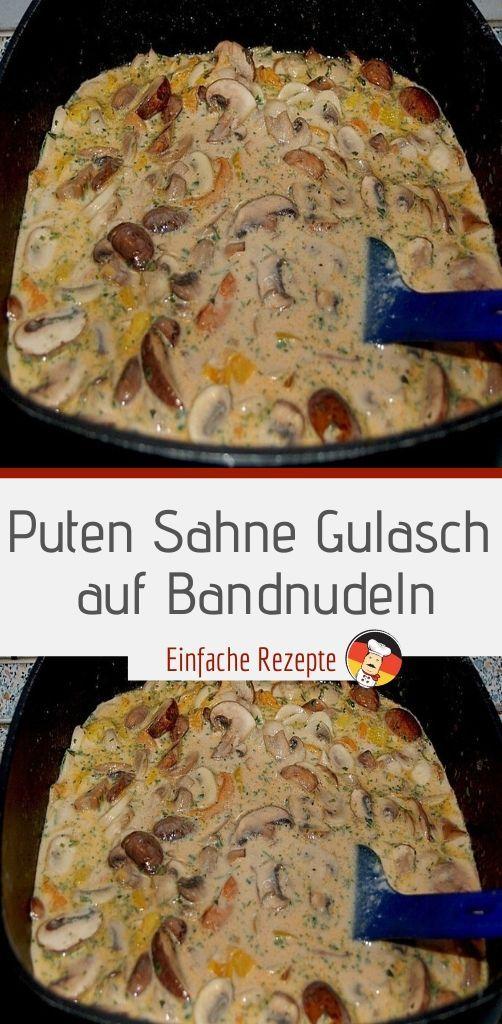 Photo of Turkey cream goulash on tagliatelle