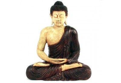 Statue de Bouddha assis - Marron