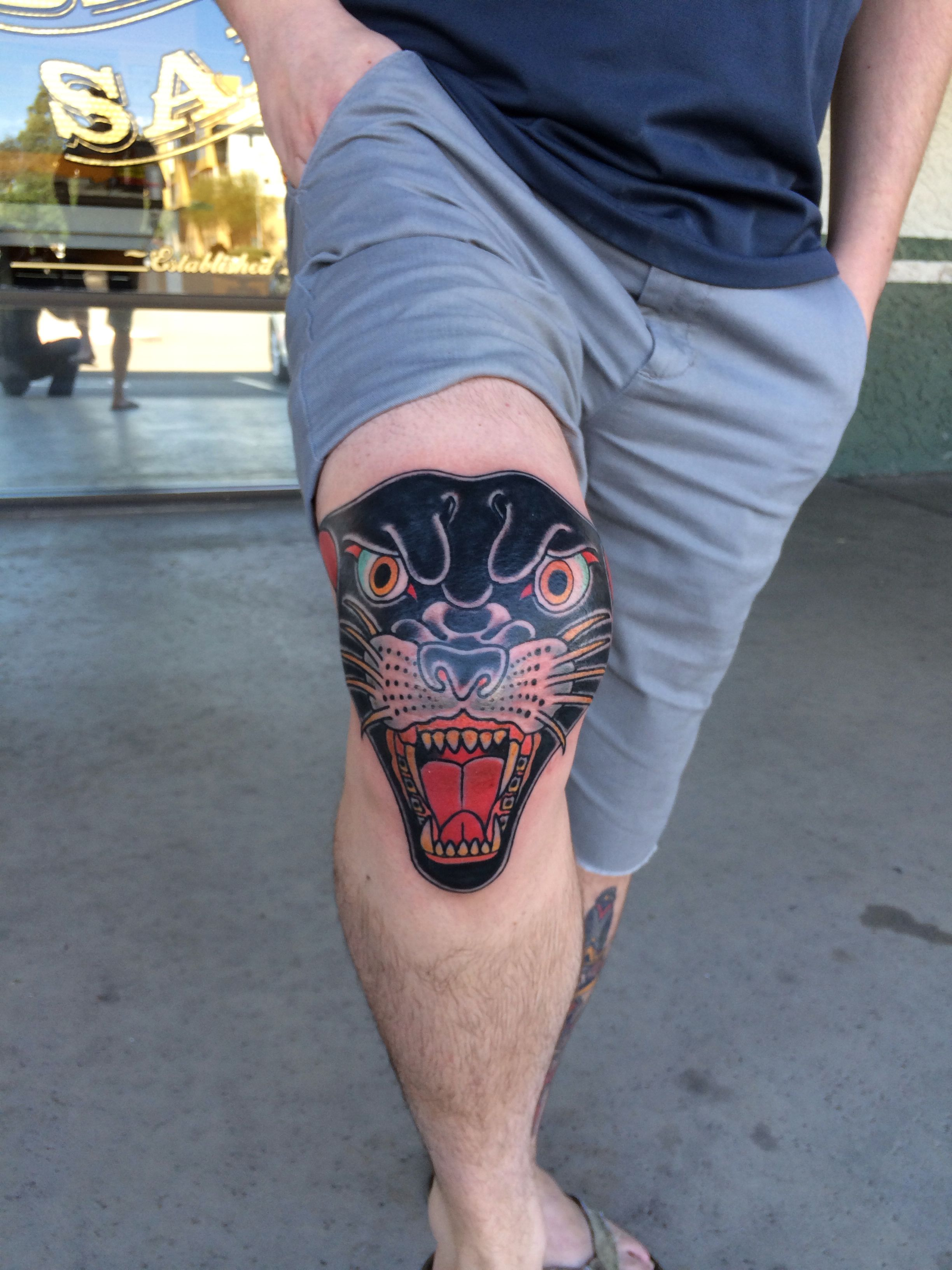 Traditional panther head tattoo | Tattoo ideas | Tattoos ...