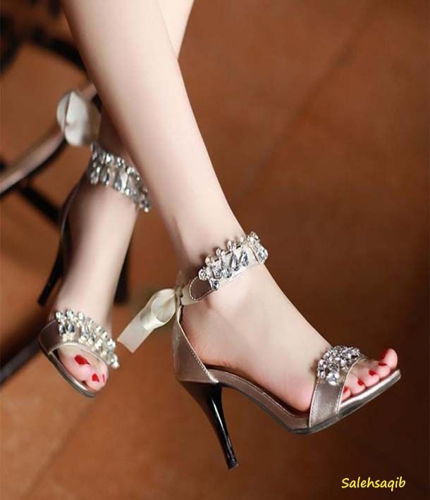 7713d7a555e96 New bridal fancy high heel Shoes