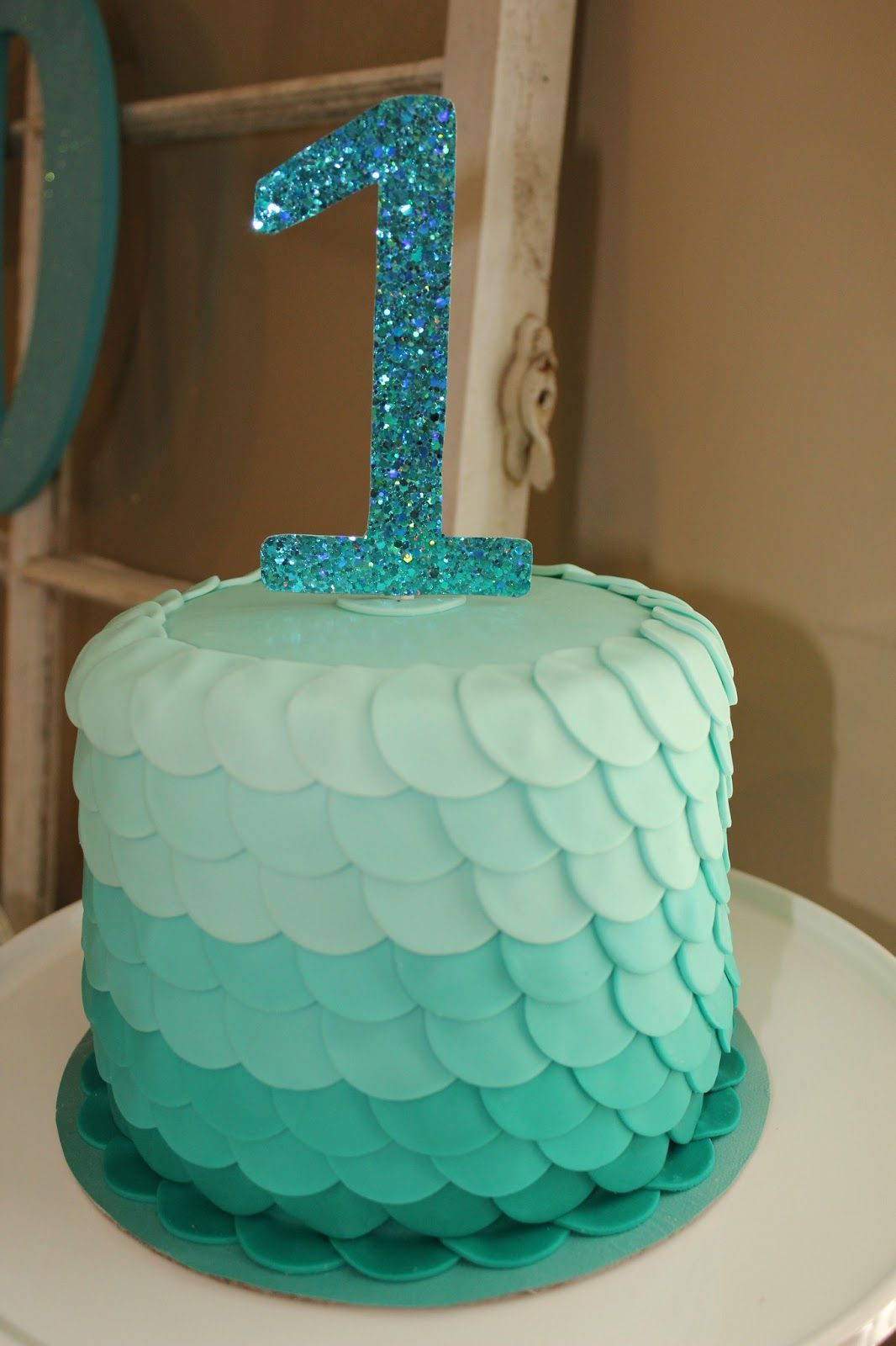 Mermaid Party Ombré Birthday Cake
