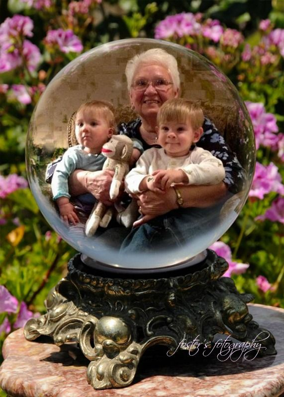 Great Grandma Dell with her Great Granddaughter, Adrianna and her Great Grandson, Nolan