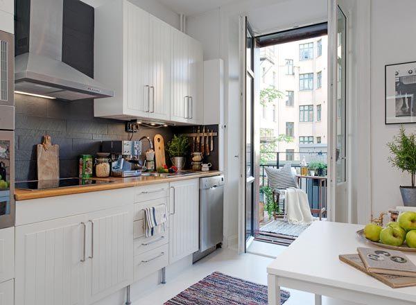 Creativas ideas de Diseño para Cocinas pequeñas | cocinas ...