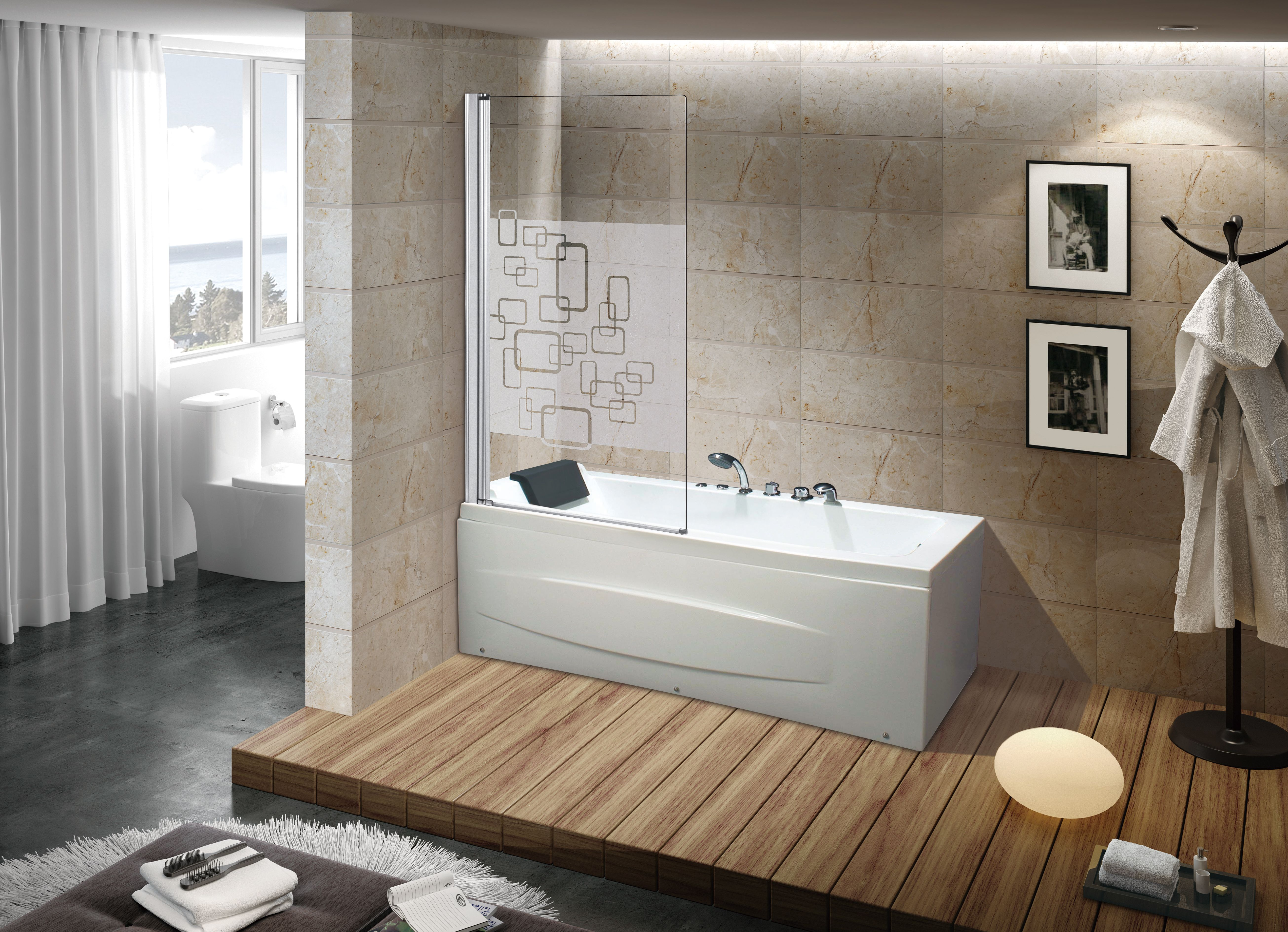 Bathtub Shower Screen N105 Bathroom Sink Cabinet Modern