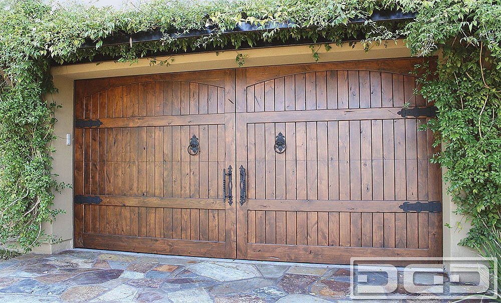 Spanish Style Wooden Gates Dynamic Garage Door Custom