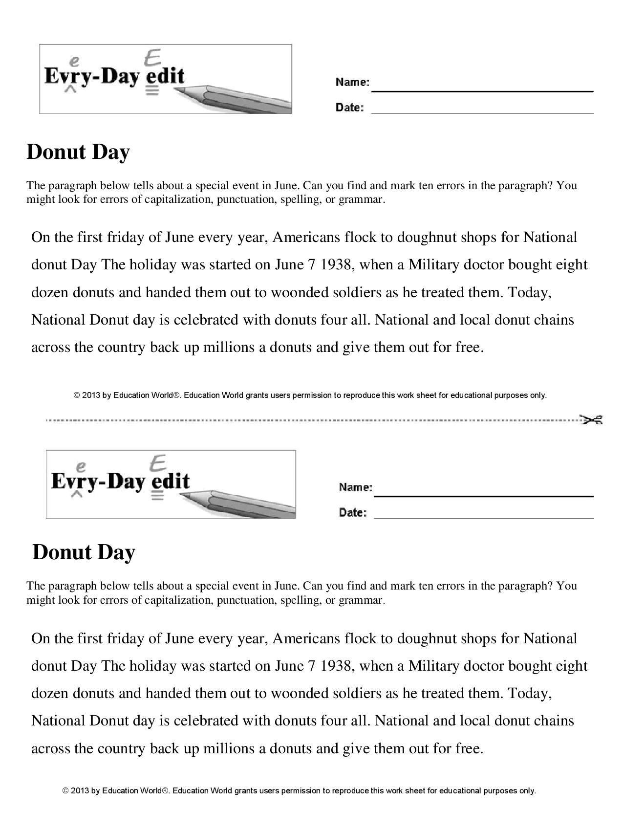 Education World Donut Day