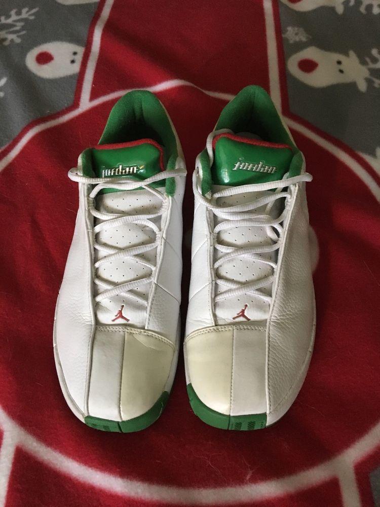Nike Air Jordan TE Team Elite 2 Low White Size 11 Green Red