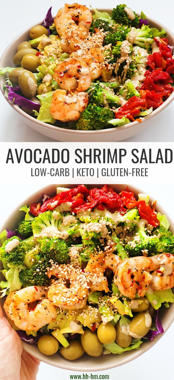 Easy Avocado Shrimp Salad Her Highness Hungry Me Recipe Shrimp Avocado Salad Shrimp Salad Salad Meal Prep