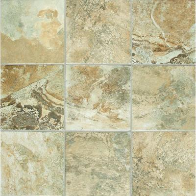 Daltile Folkstone Slate Sandy Beach 6 In X Ceramic Wall Tile 12 5 Sq Ft Per Case Fk9866hd1p2 At The Home Depot