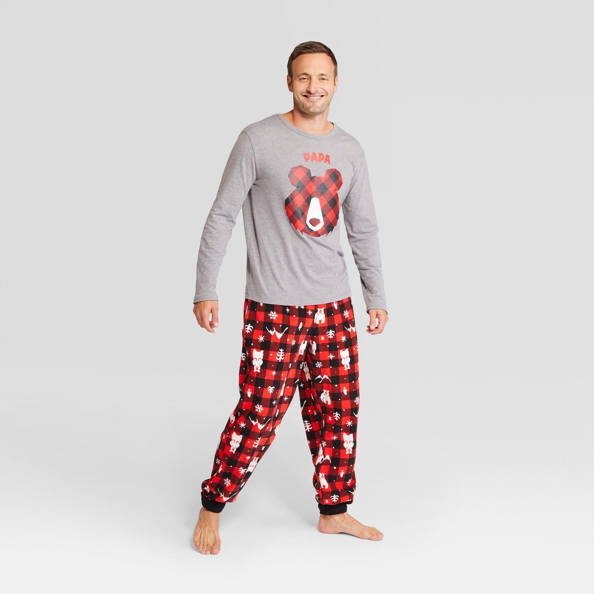 8a0c7eb542 Men s Holiday Bear Pajama Set - Wondershop Red S
