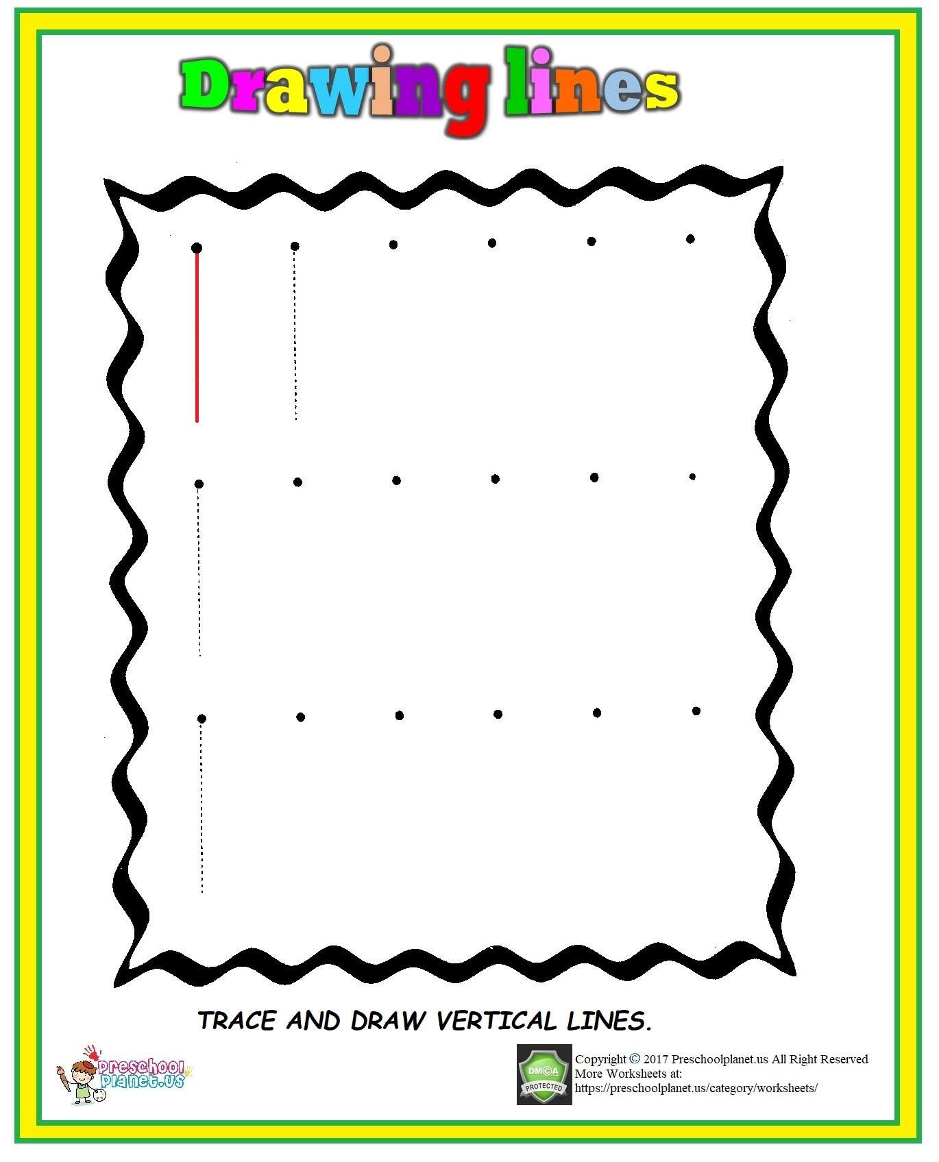 Vertical Line Worksheet With Images