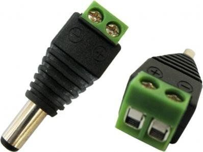 10 Pack Mini Power plug 2.1MM with Screw mount ends for security cameras /& Alarm
