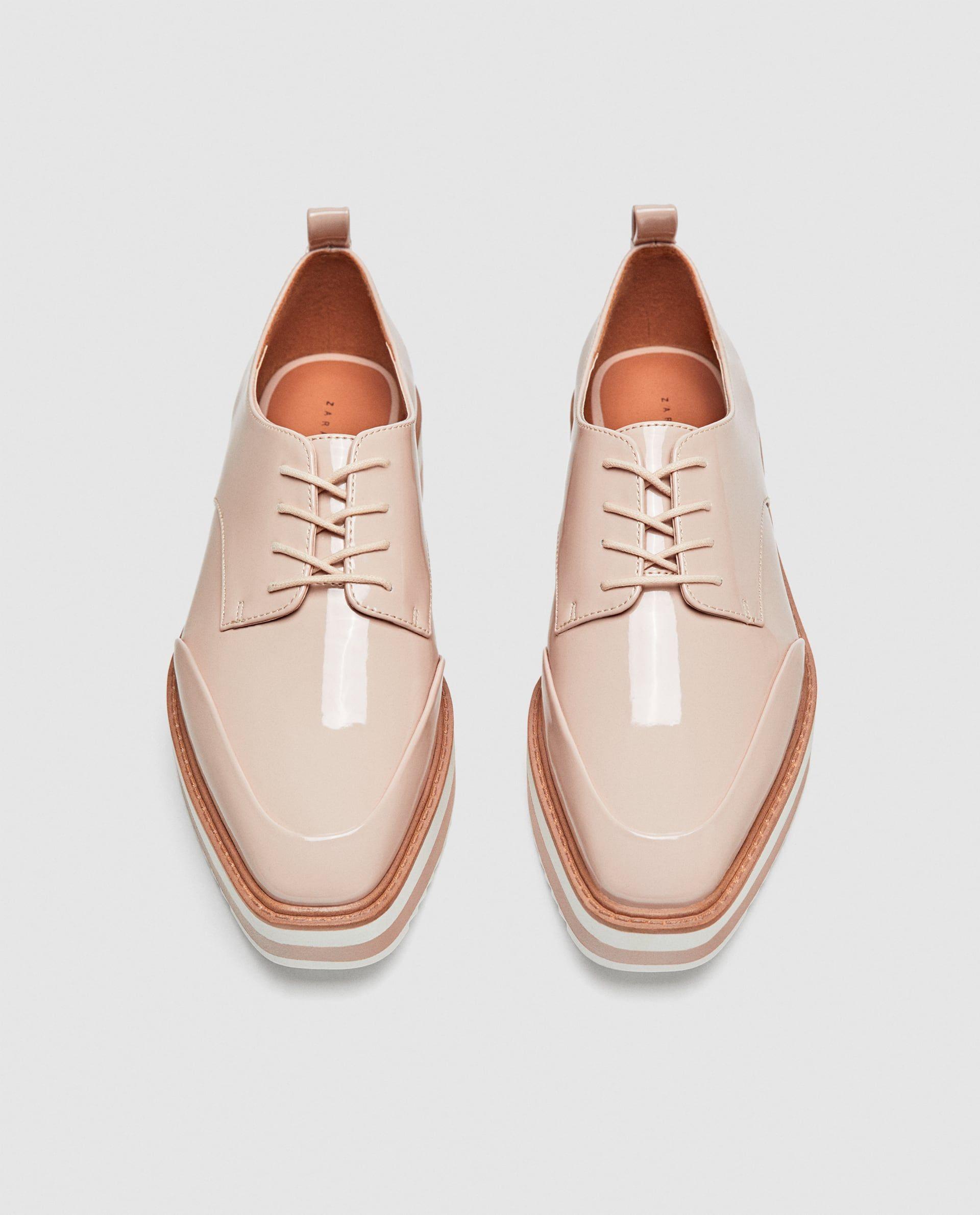 Zara Mujer Blucher Plataforma Rayas Oxford Schuhe Outfit Zara Schuhe Schuhe Frauen