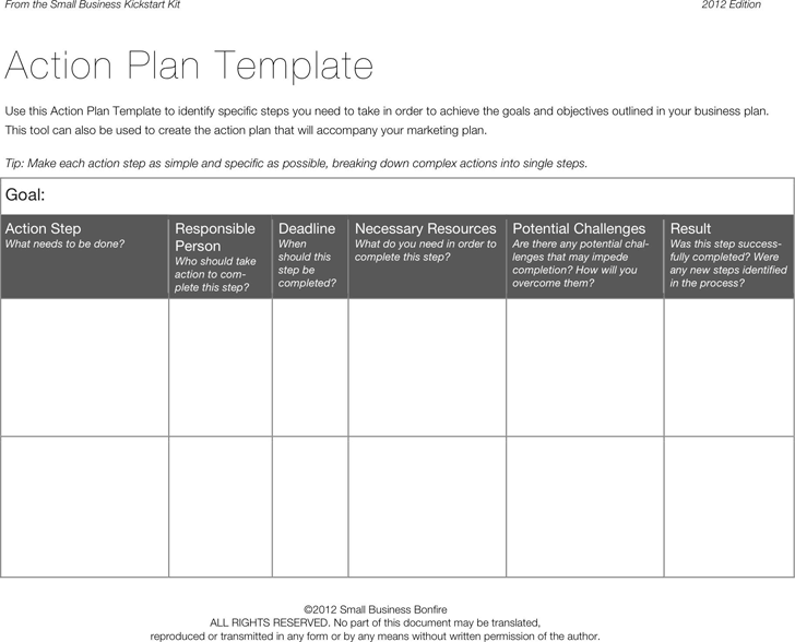 3 Word & Excel Action Plan Templates | Action plan template