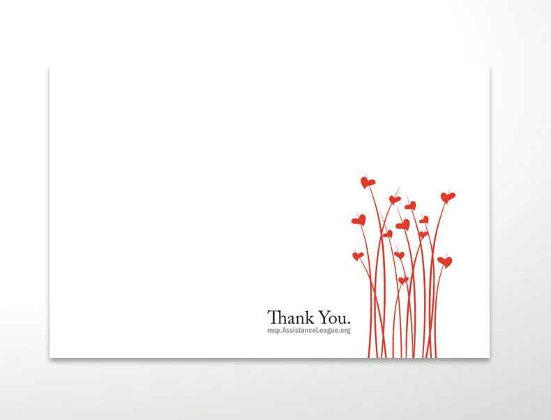 """Open Your Heart"""" Thank You Notecards for Assistance League ..."""