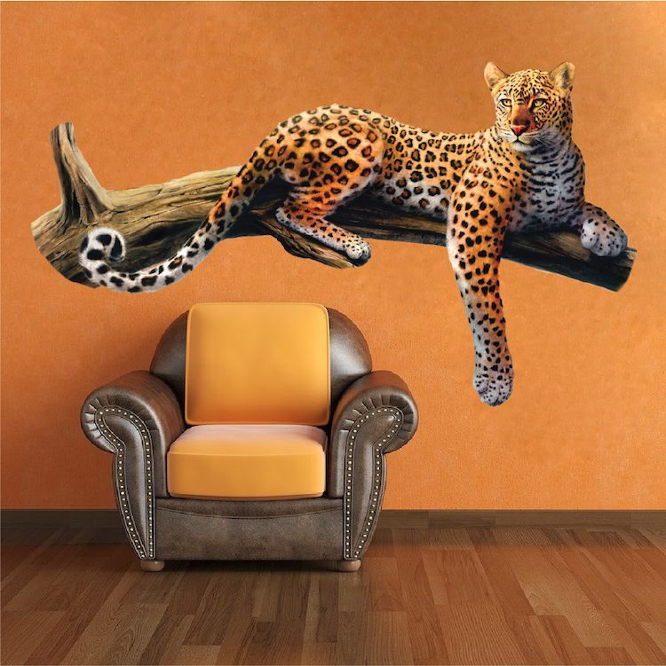 Leopard Wall Mural Decal Animal Wall Decal Murals